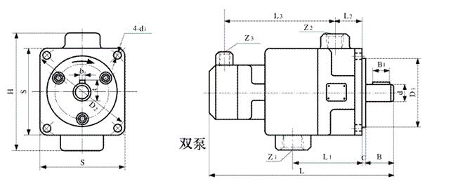 YB1双联叶片泵